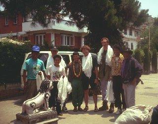 Ankunft in Nepal