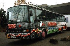 Graffiti-Bus 'Pyramide'